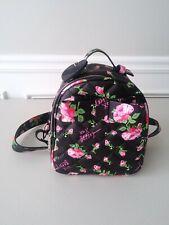 Betsey Johnson Black Floral Mini Backpack NWOT