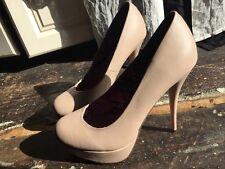 ❤️ Sexy NEXT Beige Round Toe Platform Stiletto Heels UK6.5 EU40.5
