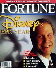 Fortune Disney's Epic Year 1995 Michael Eisner Euro Disney Disneyland Paris WDW