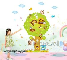 Animal Tree House Wall decals Removable sticker home art kids nursery baby decor