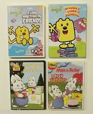 4 DVD WUBBZY GOES TO SCHOOL Summertime With Max & Ruby KIDS Movie Lot Set