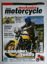 MOTORCYCLE MECHANICS CAFE RACER 2006 SEPTEMBER KAWASAKI TRIPLE TURBO FZR1000 GT