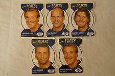 GEELONG CATS - Footy Faces Football Cards x 5 inc. Milburn x2. Mooney, Chapman