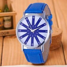 Ladies Fashion Sliver Case Quartz Blue & White Face Blue Band Wrist Watch.