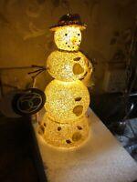 "Department Dept 56 Sea Shell Ocean Side Snowman Lighted Christmas 8"" Mantle Lamp"
