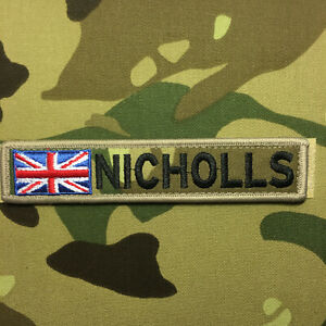 """1 X Custom Name Tape Patch Badge Embroidered 5""""X 1"""" Hook & Loop AirSoft Tactical"""
