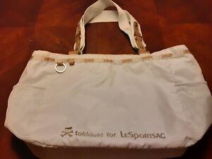 White Tokidoki For Le sportsac Handbag Leather Trim Nylon Bag