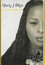 Mary J. Blige All That I Can Say CASSETTE SINGLE Hip Hop RnB/Swing Downtempo