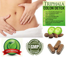 300 Capsules Pure Triphala Body & Liver Detox Colon Cleanse Promotes Weight Loss