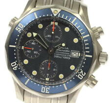 OMEGA Seamaster300 2298.80 Chronograph Navy Dial Automatic Men's Watch_540664