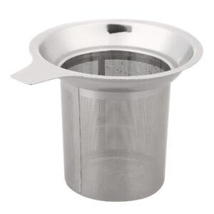 Edelstahl-Tee-Blatt-Filter-Sieb Große Kräuter-Gewürzfilter Seiher
