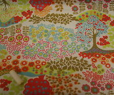 Enchanted Forest PVC Ripstop Fabric Wipe Clean Material Tablecloth * Bag Making