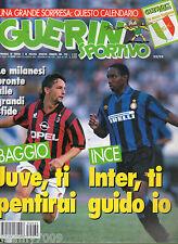 GUERIN SPORTIVO=N°32/33 1995=POSTER CM 40X27 ROBERTO BAGGIO (MILAN)=calendario
