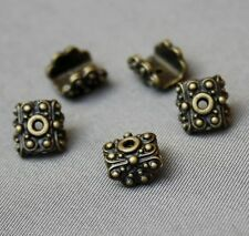 Antique bronze angular bead cap – pack of 20 bead caps