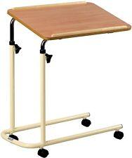 Rolling Overbed Table Hospital Bedside Tray Adjustable Height Laptop Bed Desk