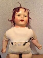"Kestner ? Vintage 1930 40 Composition Cloth 14"" Tin Eyed Cryer Doll"