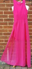 DEBENHAMS Julian Macdonald Diamond Strappy Cerise Long Summer Dress UK 8