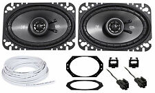 """Jeep Wrangler Tj 97-02 Kicker CSC 4X6"""" Front Factory Speaker Replacement + Wire"""