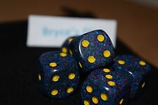 Speckled 16mm D6 RPG Chessex Dice (10 Dice) - Twilight- Speckled Multi Color!