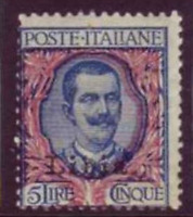Italy Libia - Sassone n. 11r Variety Floreal moved right and down  cv 840$ MH*