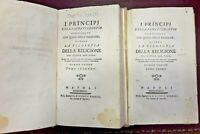 1788 - PARA DU PHANJAS. I PRINCIPJ DELLA SANA FILOSOFIA - 2 TOMI - PERGAMENA
