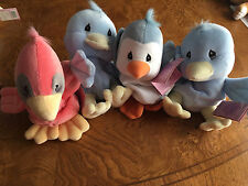 Precious Moments Enesco Tender Tails Lot of 4 Birds Plush Animals