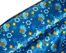 Jersey Öko tex Stoff Krümelmonster Sesamstraße Krümel Monster blau Kinder 10593
