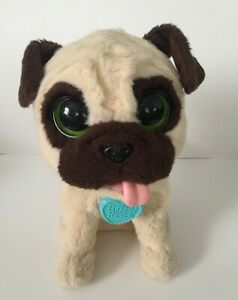 "FurReal Friends JJ the Jumping Barking Pug Interactive Dog Hasbro 2014 Works 10"""