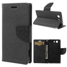 Korean Mercury Fancy Diary Wallet Case for Sony Xperia Z3 Compact/Z3 Mini Black