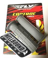 New FLY Grey SOFT atv grips Honda TRX450r 450r 250r TRX250r half waffle design