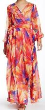 New with Tag - $381.00 Meghan LA Mango Surplice Belted Waist Maxi Dress Size  L