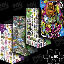 Heye 4 x 150 Piece Mini Jigsaw Puzzles Art Lab - 2 x Jon Burgerman 2 x Eboy