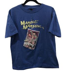 Rare 1980s MANIAC MANSION Lucusfilms T-Shirt Sz XL Video Game