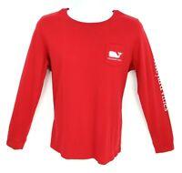 Vineyard Vines T-Shirt Long Sleeve Mens Size L Red 100% Cotton Graphic Print