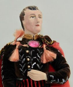 VINTAGE Folk Art Doll NAPOLEON Kimcraft American Type Dolls HISTORICAL