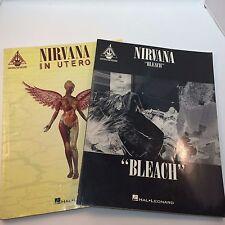 Nirvana Bleach In Utero 1994 Gutar Tablature Pair Music Books Cobain