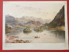 1845 - Lake District Or Scotland? - Original Watercolour By Kate Smith.