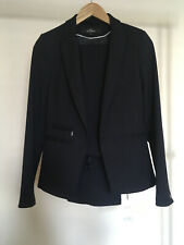 Next Navy Blue Tailored Suit BLAZER and TROUSERS size 6 Ladies Womens Set Work