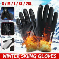 Winter Sport Skiing Gloves Touch Screen Zipper Full Finger Warm Velvet Mittens
