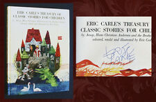 ERIC CARLE SIGNED IN PERSON - TREASURY OF CLASSIC STORIES FOR CHILDREN, 1988