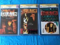 Death: Time of Your Life #1-3 - DC -CGC SS 9.8 9.6 -Signed by Mark Buckingham