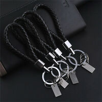 New Fashion Men Leather Key Chain Ring Keyfob Car Keyring Keychain Gift Cool HGU
