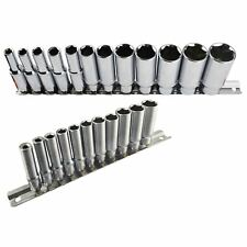 """Imperial SAE / AF Double Deep Sockets 1/4"""" And 3/8"""" Drive 5/32"""" - 7/8"""" 23pc Se"""