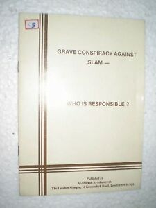 GRAVE CONSPIRACY AGAINST ISLAM WHO IS RESPONSIBLE RARE BOOK INDIA