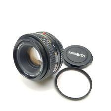 Minolta MD 50mm F2 MF Lens Japan F 1:2 NMC Near Mint