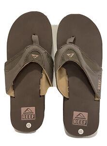 Men's REEF Flip Flops Sandals, Size 11 / 45, Brown.