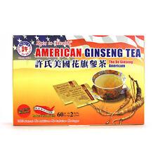 Hsu's American Ginseng Tea, 60 bags / box, Free Shipping