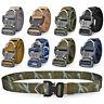 Men's Tactical Military Heavy Duty Nylon Quick Release Rigger's Webbed Belt