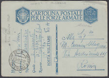 1940 Italy Military Postcard Used in Albania
