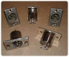 Connector, D Series, XLR (M), 3 Pin, Straight, Chassis-Panel Mount (Lot/5)